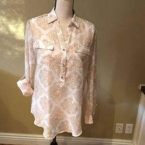 Collared blouse, S6, pink